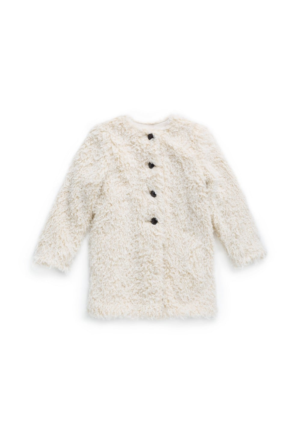 Curly faux fur coat | MANGO KIDS