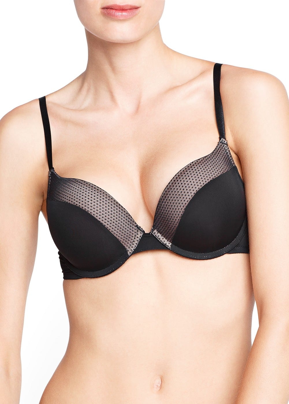 Plumeti panel supreme push-up bra | MANGO