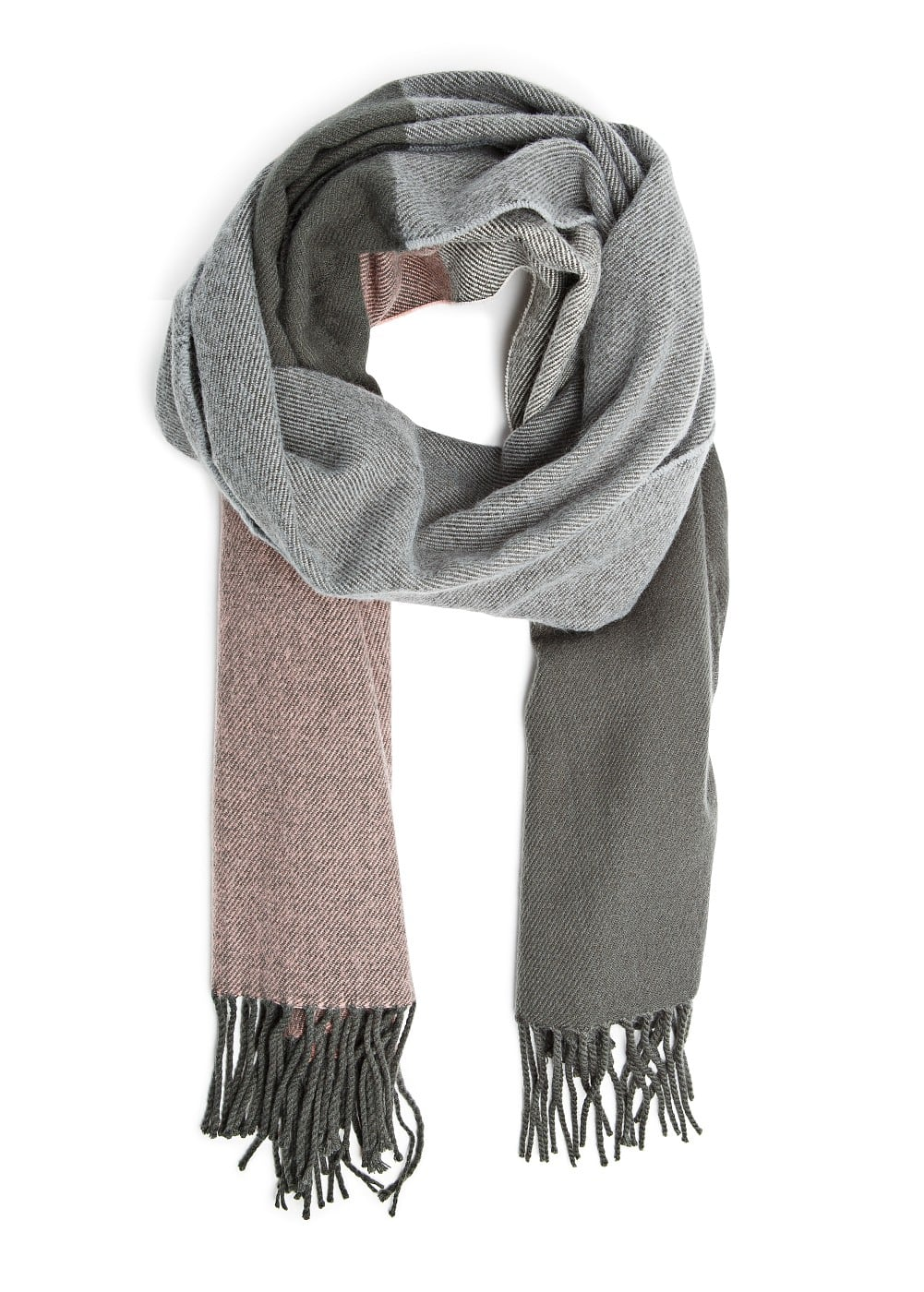 Check knit scarf