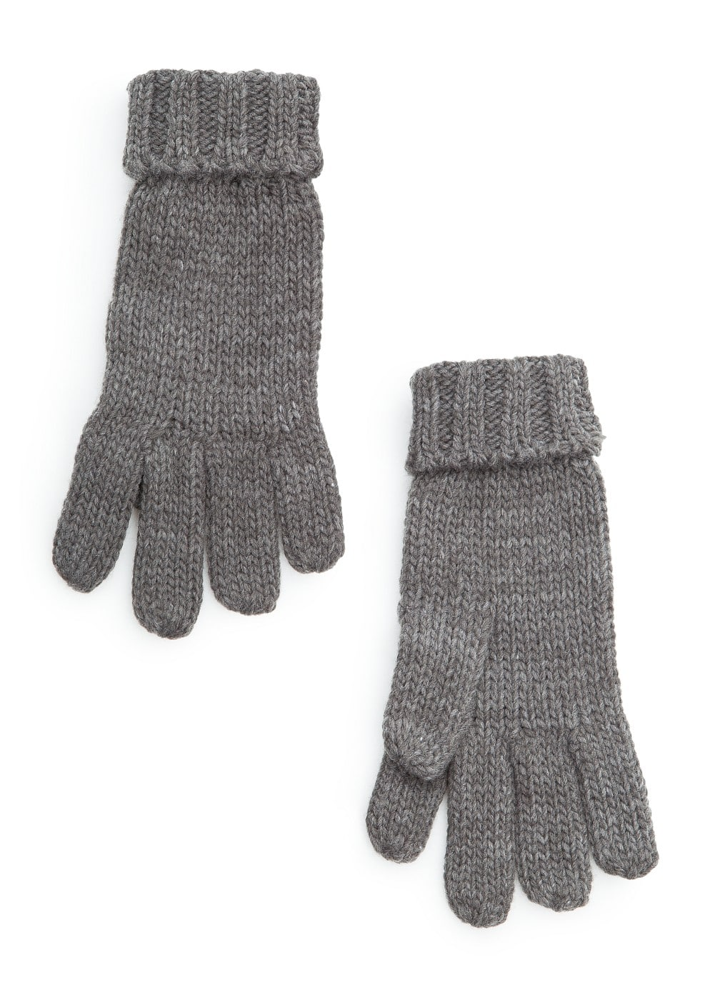 Wrapped cuffs knitted gloves