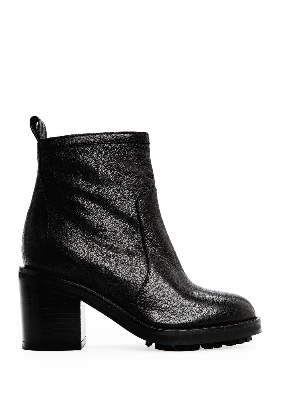Zipper leather ankle boots | MANGO
