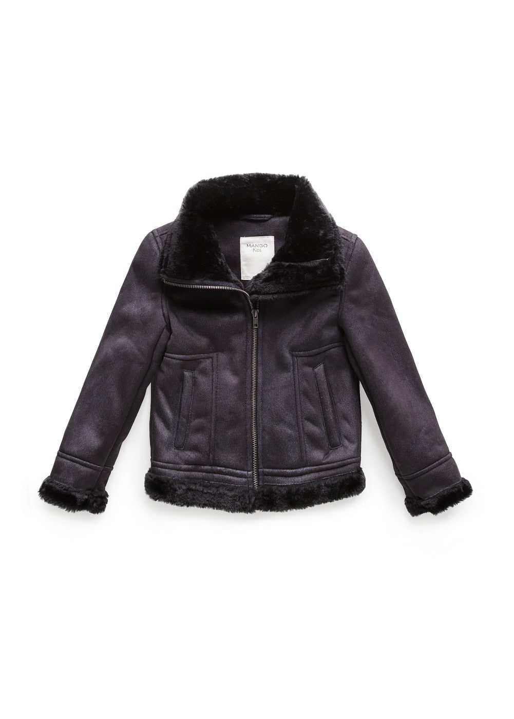Faux shearling-lined jacket | MANGO KIDS