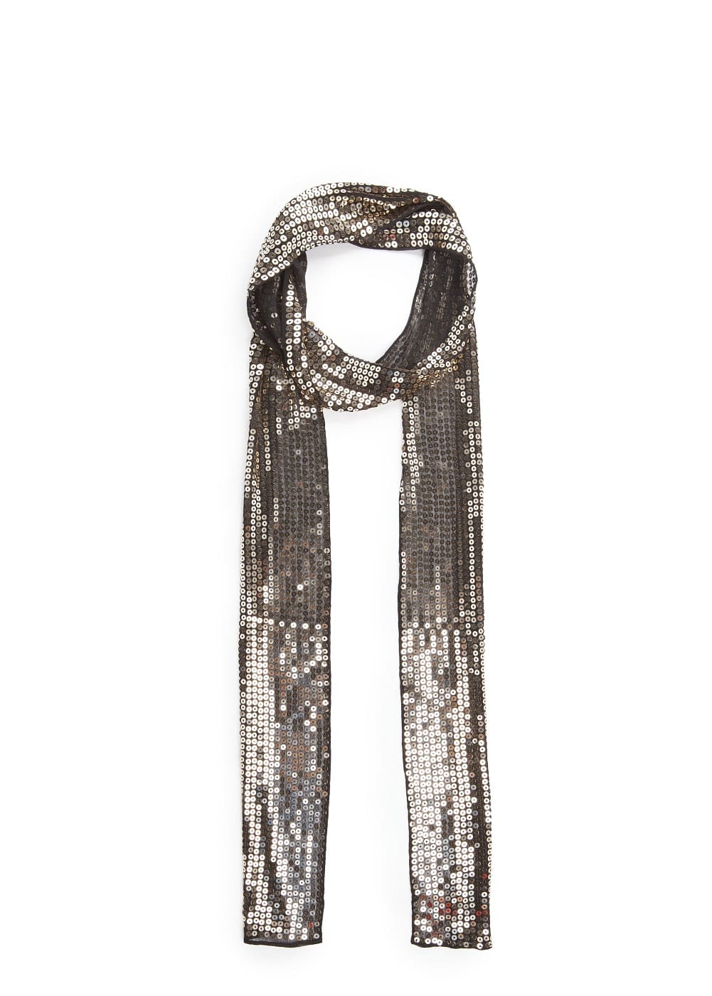 Sequined chiffon scarf