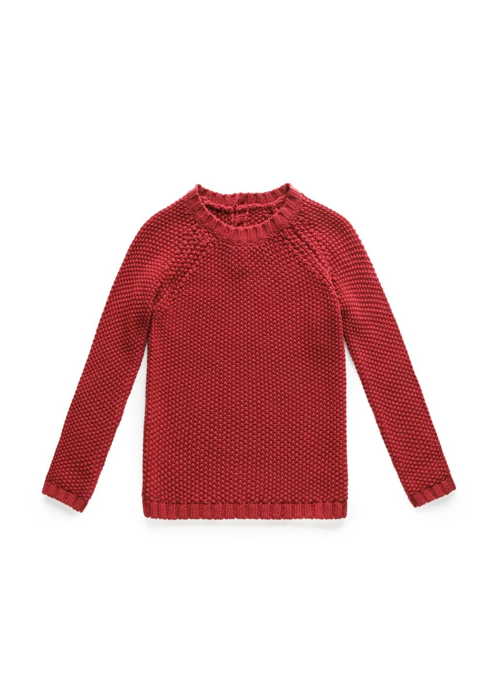 REVERSE KNIT SWEATER