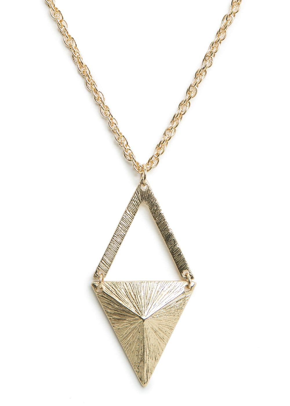Rhombus pendant necklace | MANGO