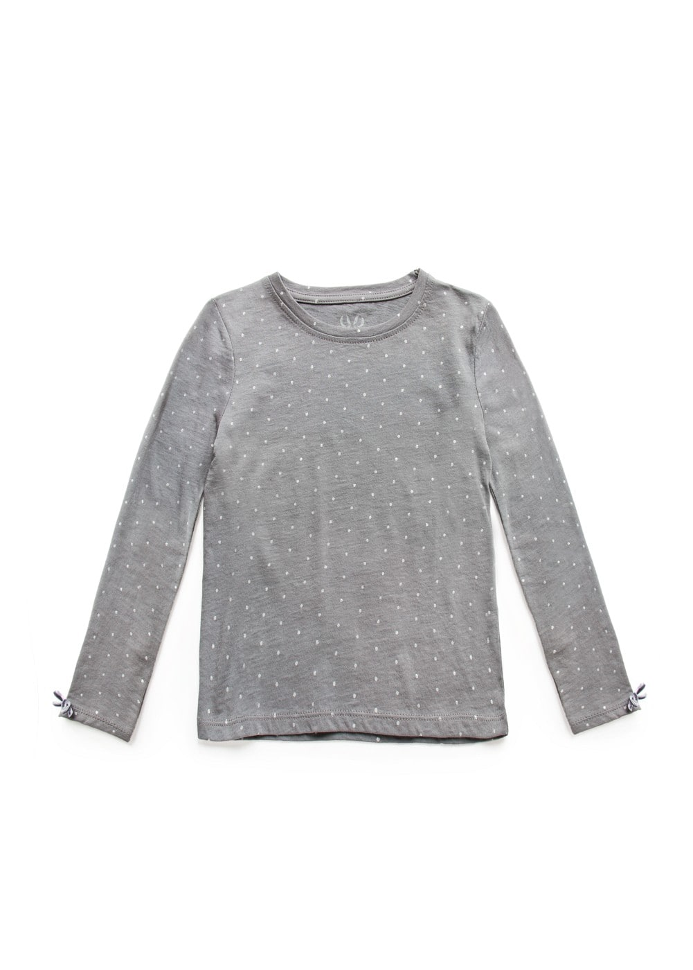 Metallic polka-dot t-shirt | MANGO KIDS