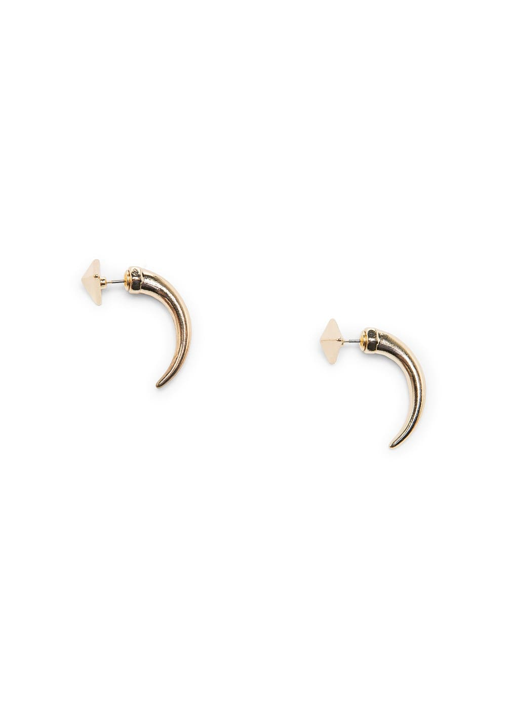 Metal horn earrings