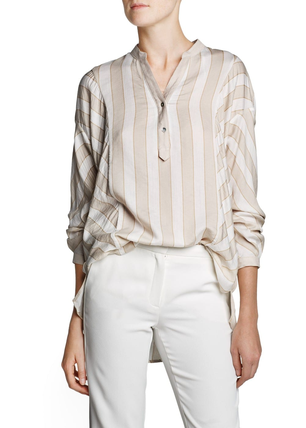 Premium - dolman sleeve striped blouse | MANGO