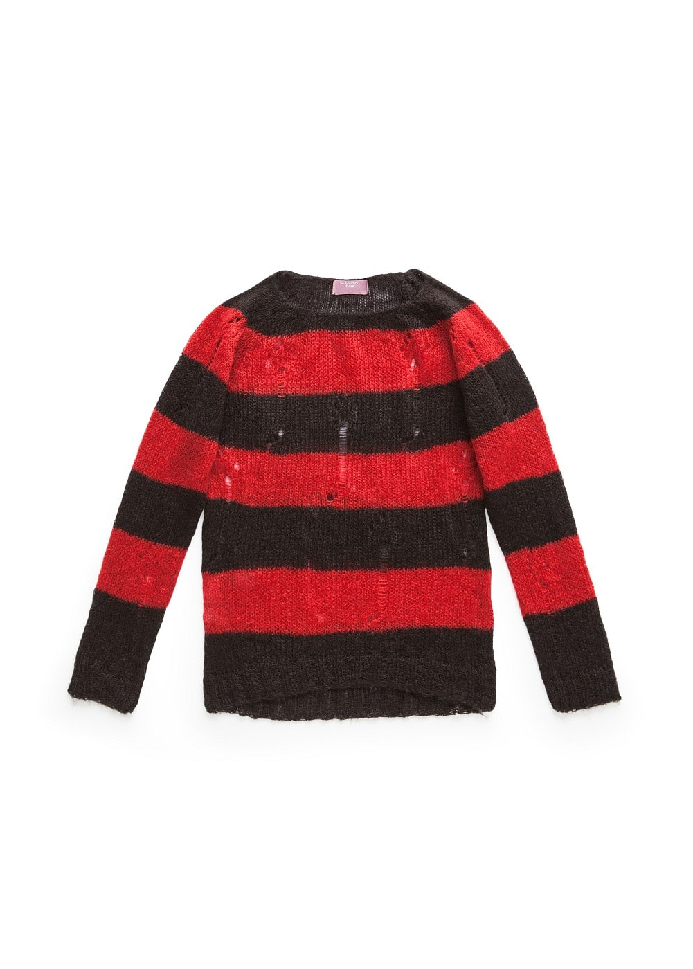 Openwork striped sweater