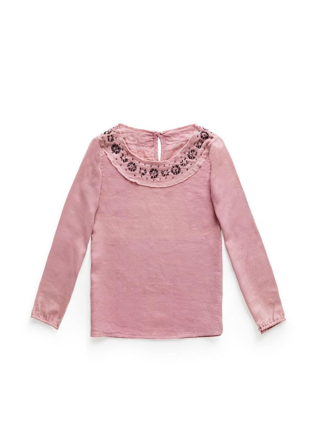 Lightweight beaded shirt | MANGO KIDS