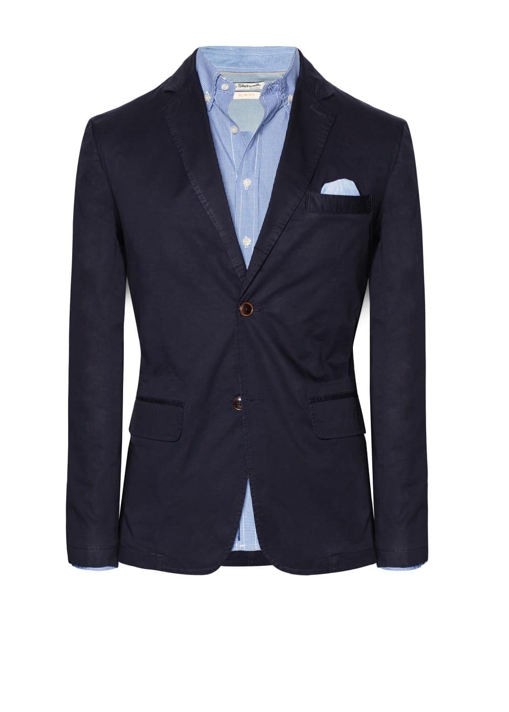 Poplin cotton blazer