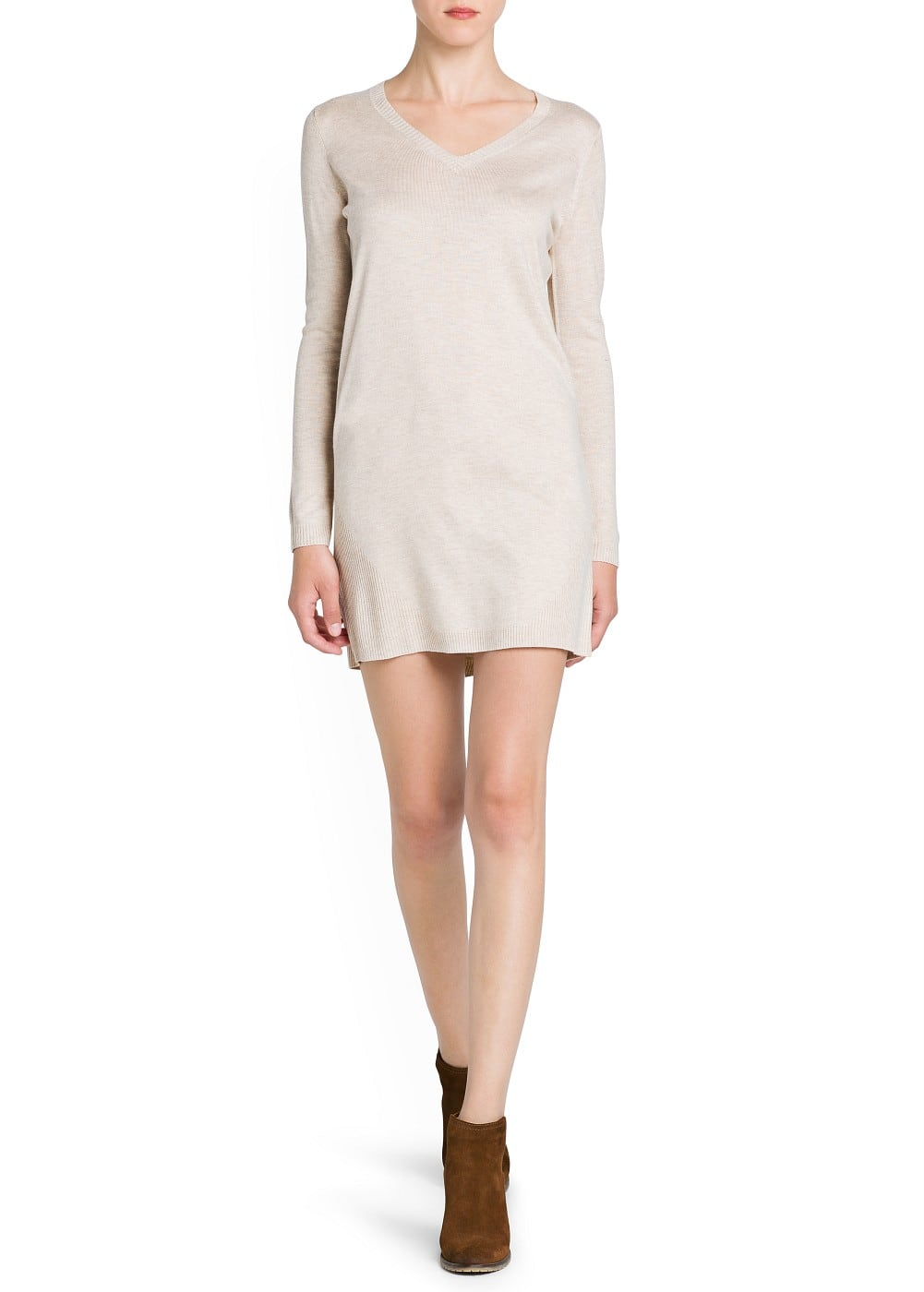 Ribbed details knit dress | MANGO