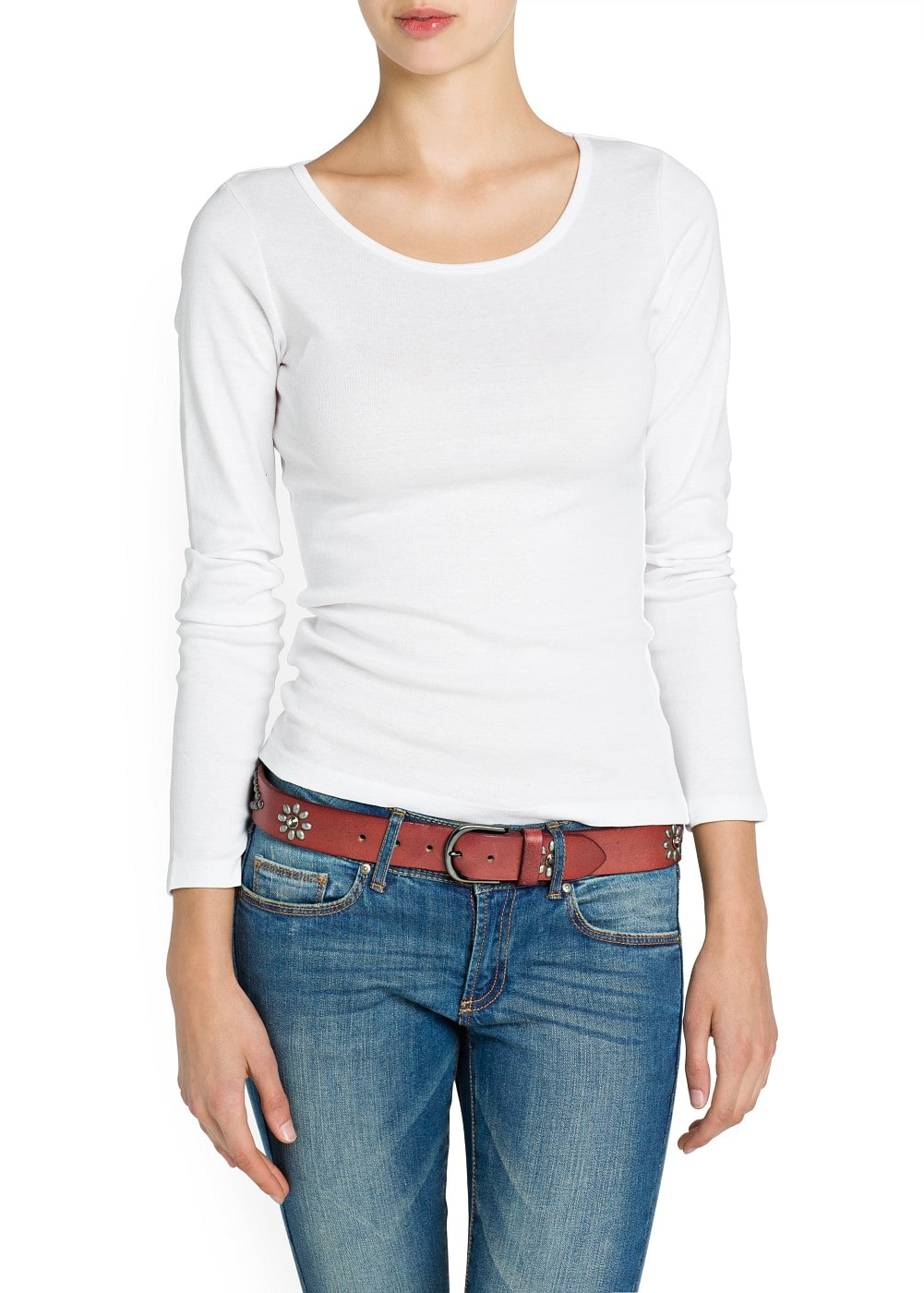 Long sleeved cotton t-shirt | MANGO