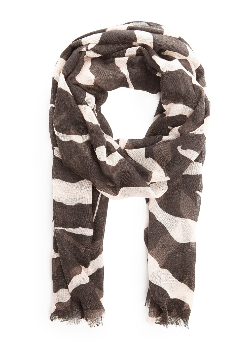 Lightweight animal print scarf