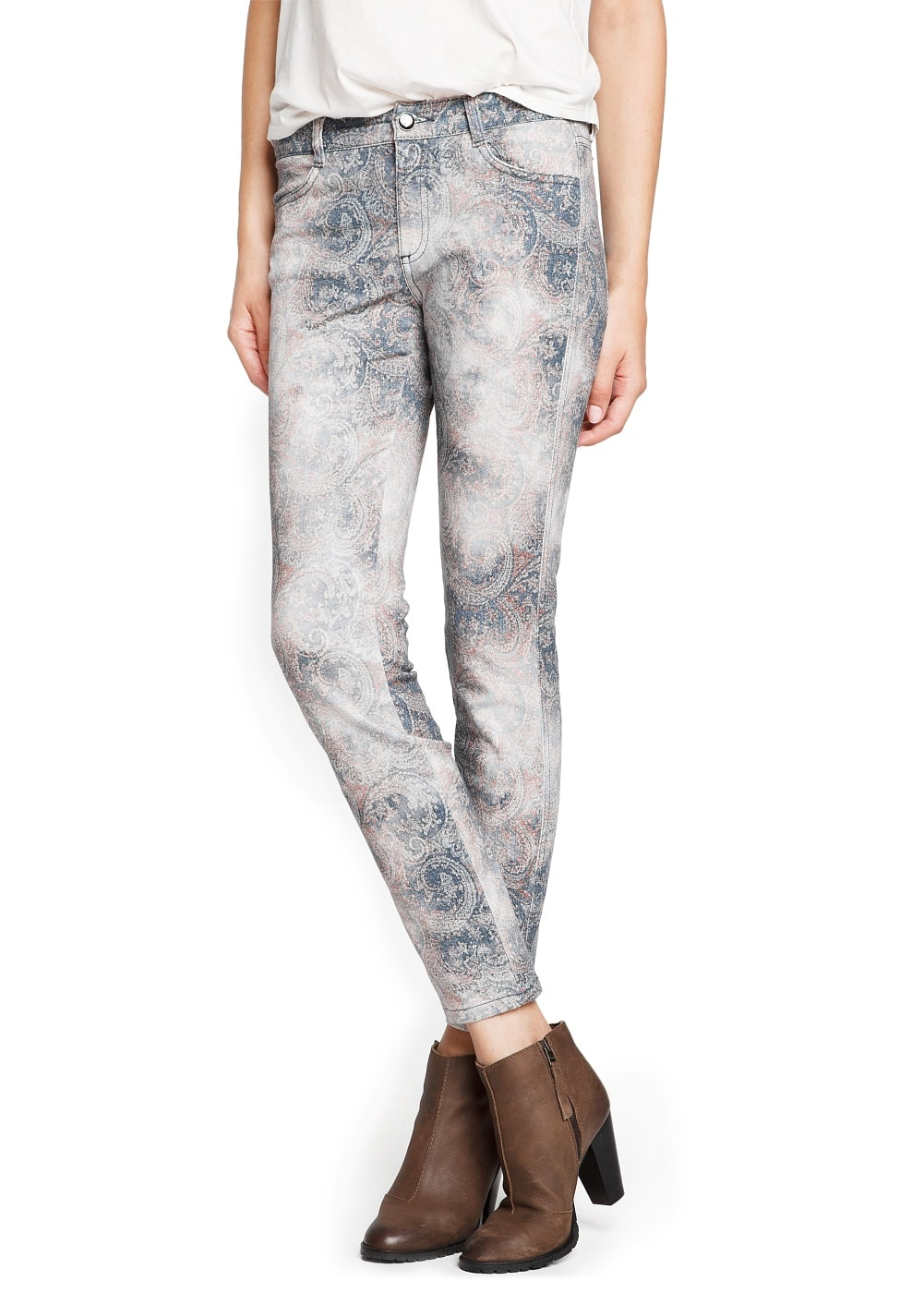 Slim-fit paisley print trousers | MANGO