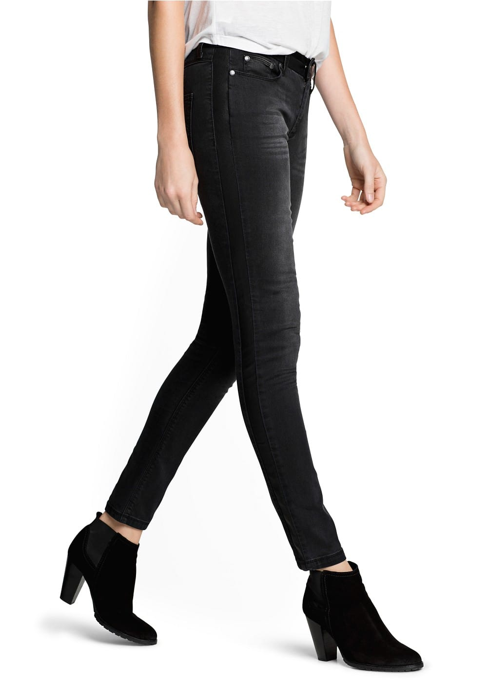 Super slim-fit black Helmut jeans