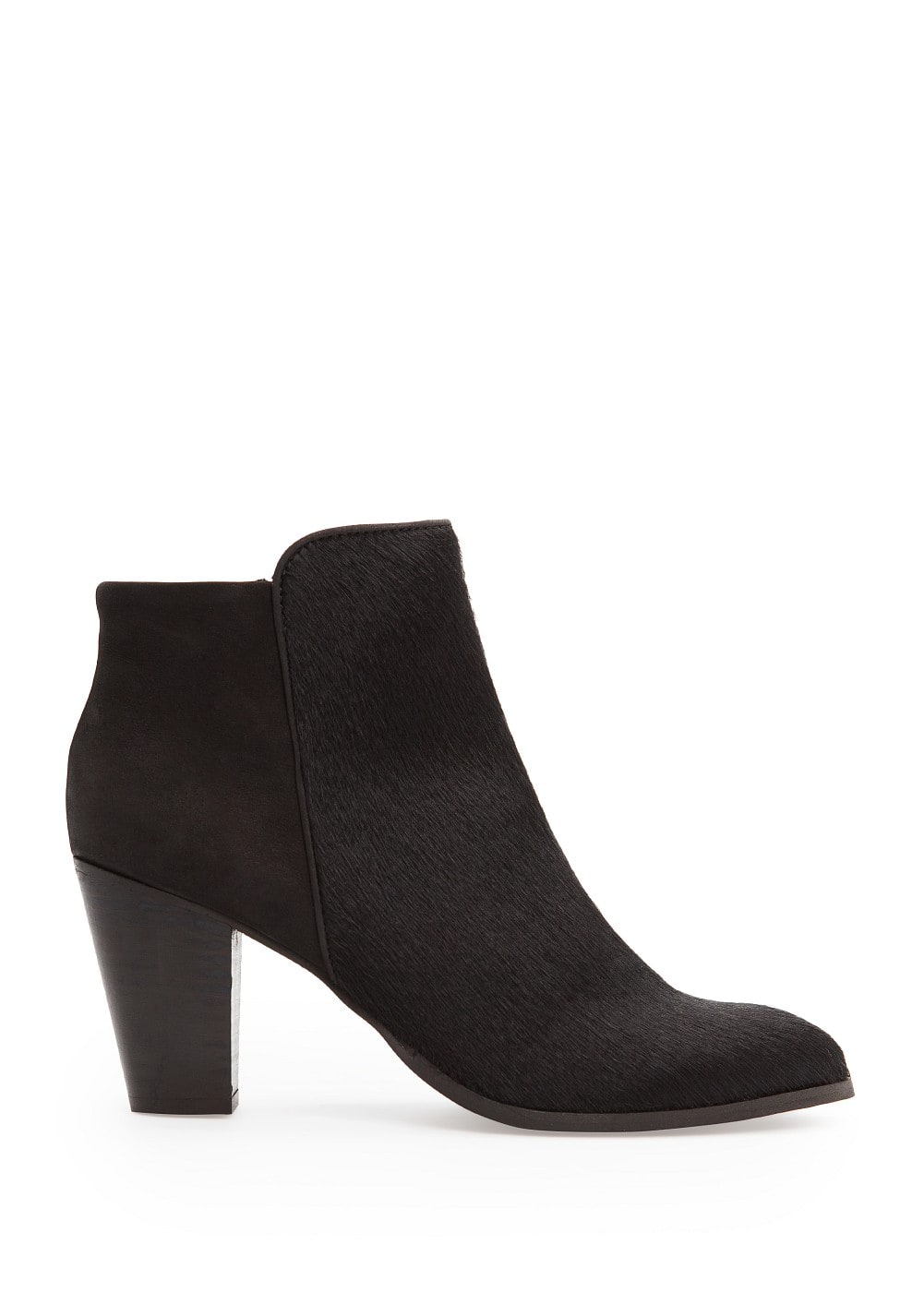 Combi leather ankle boots | MANGO