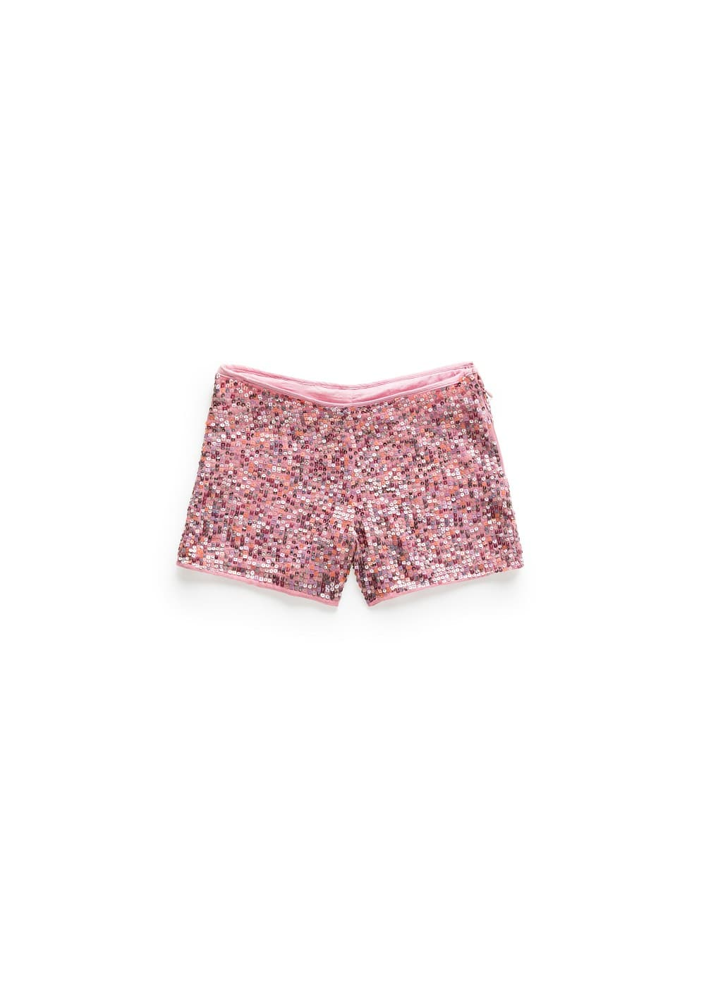 Multicolor sequin shorts