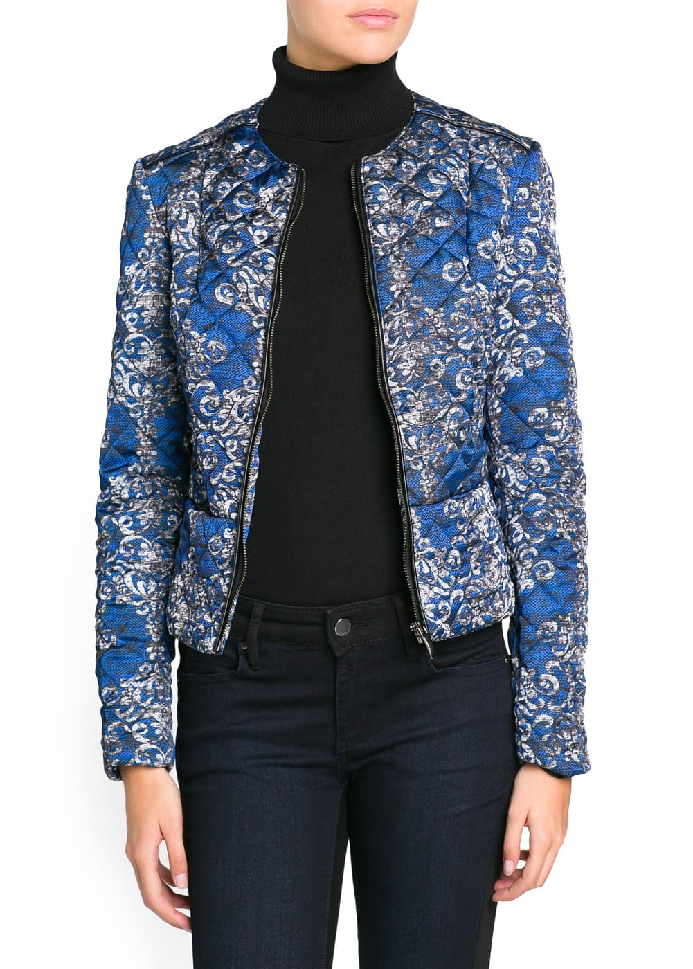 Quilted printed jacket | MANGO