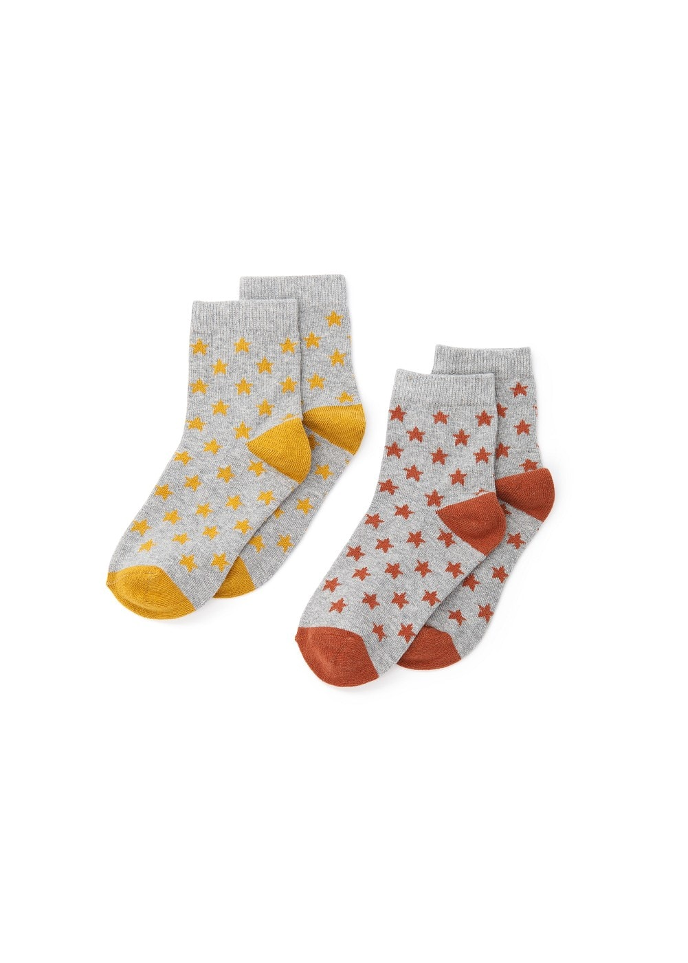 2 pack star print socks