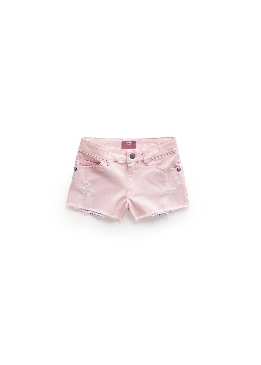 Contrasted pockets shorts