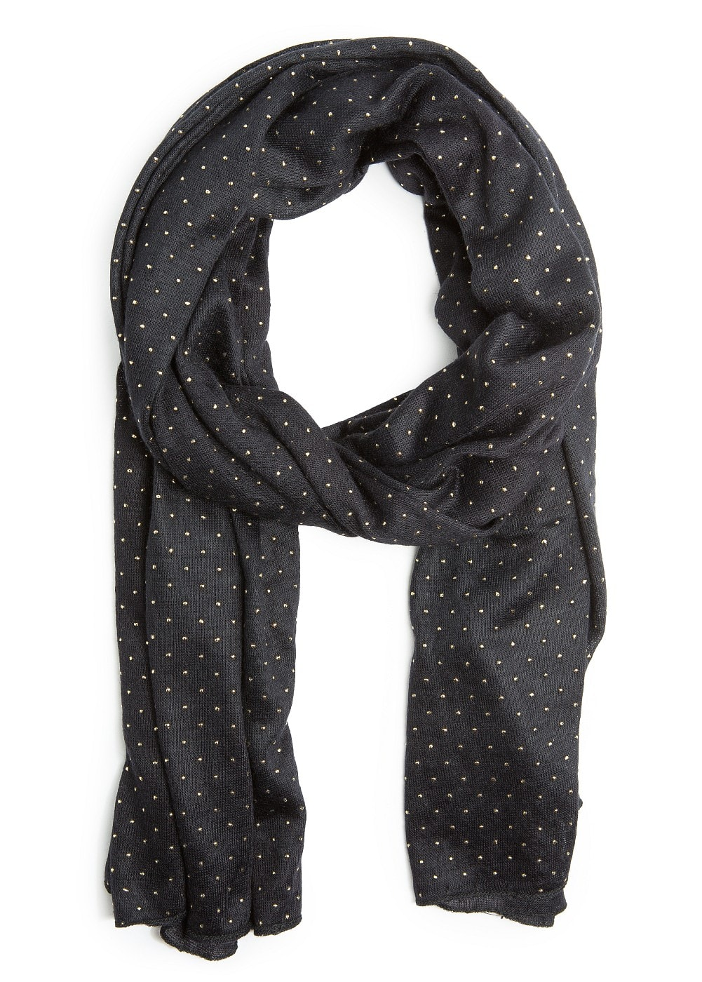 Metallic polka-dot scarf