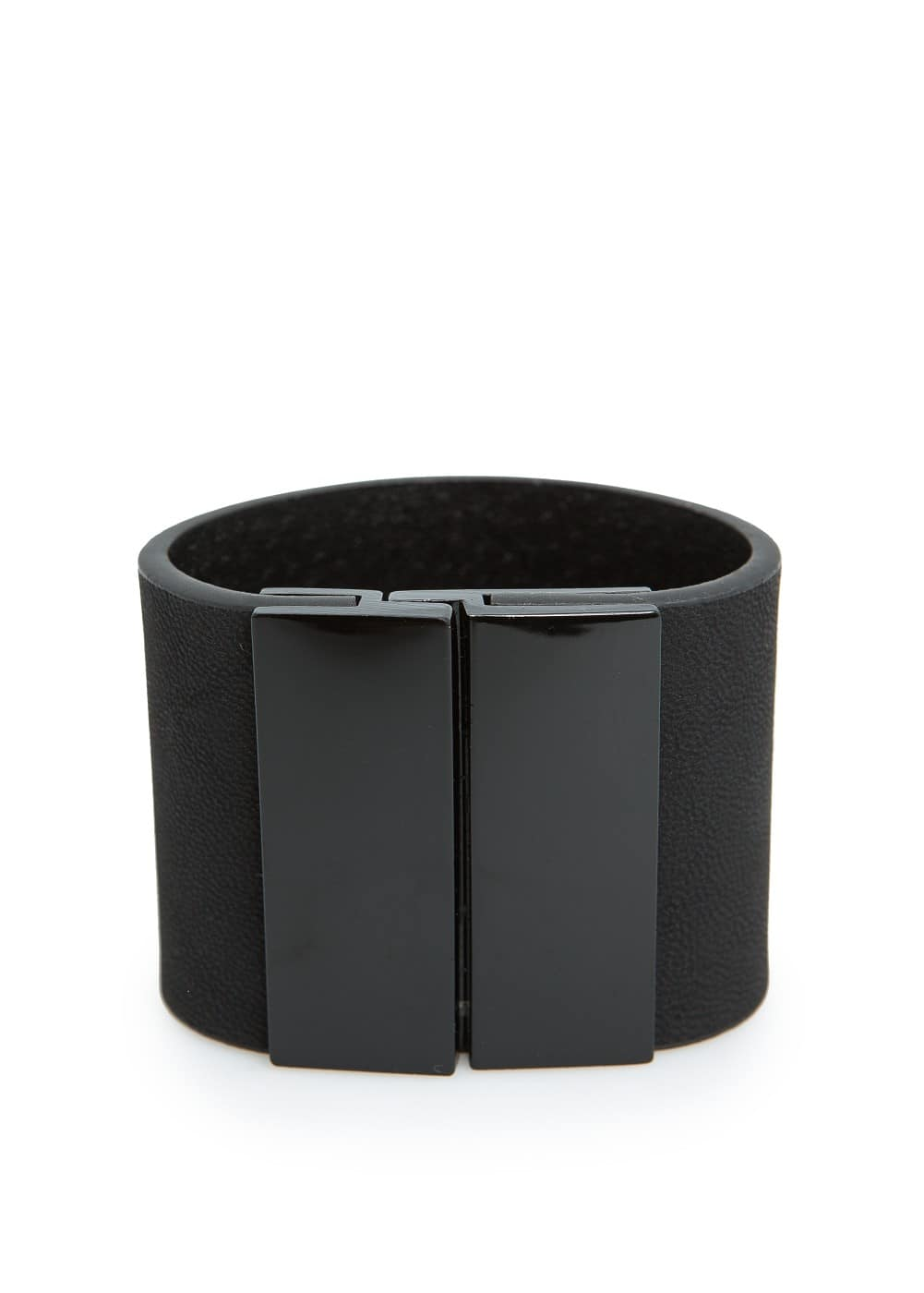 Leather effect cuff | MANGO