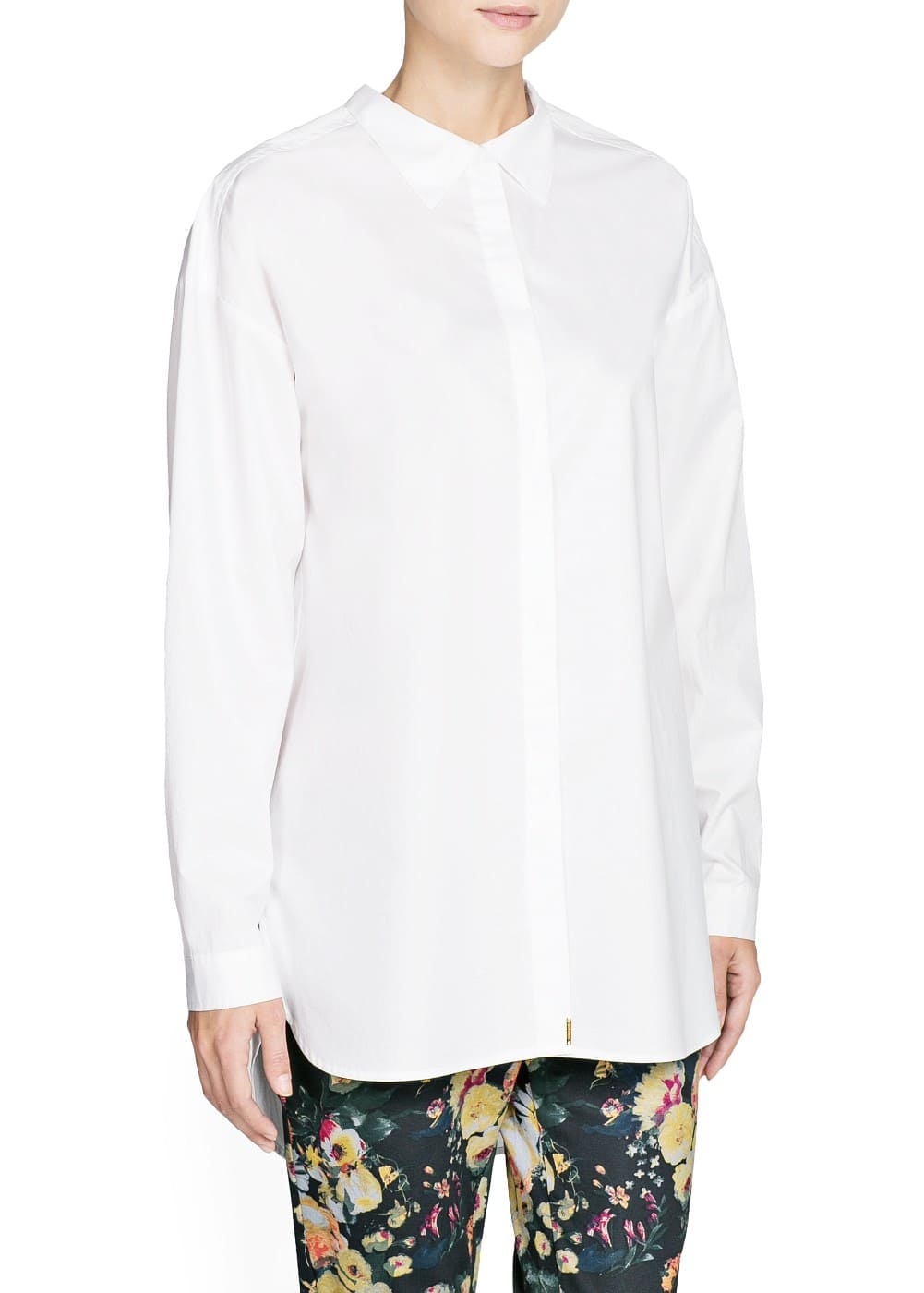 Cotton boyfriend shirt | MANGO