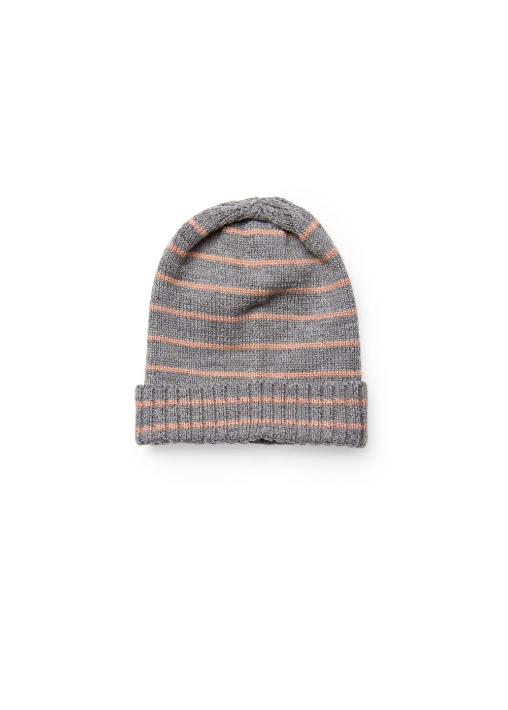 Metallic striped knit hat