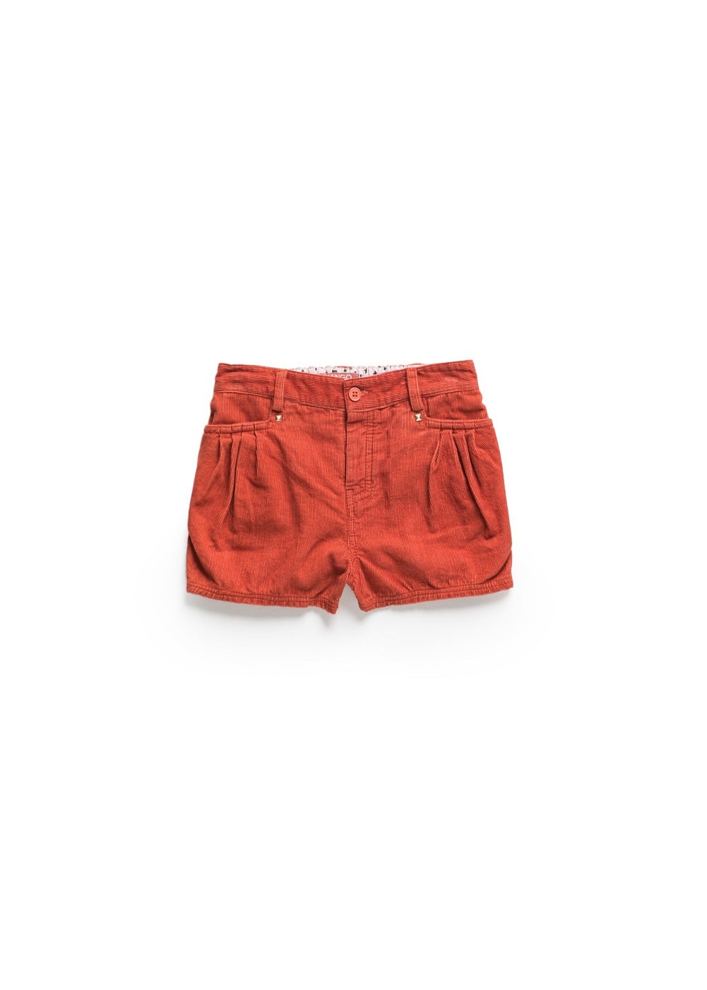 Studded corduroy shorts