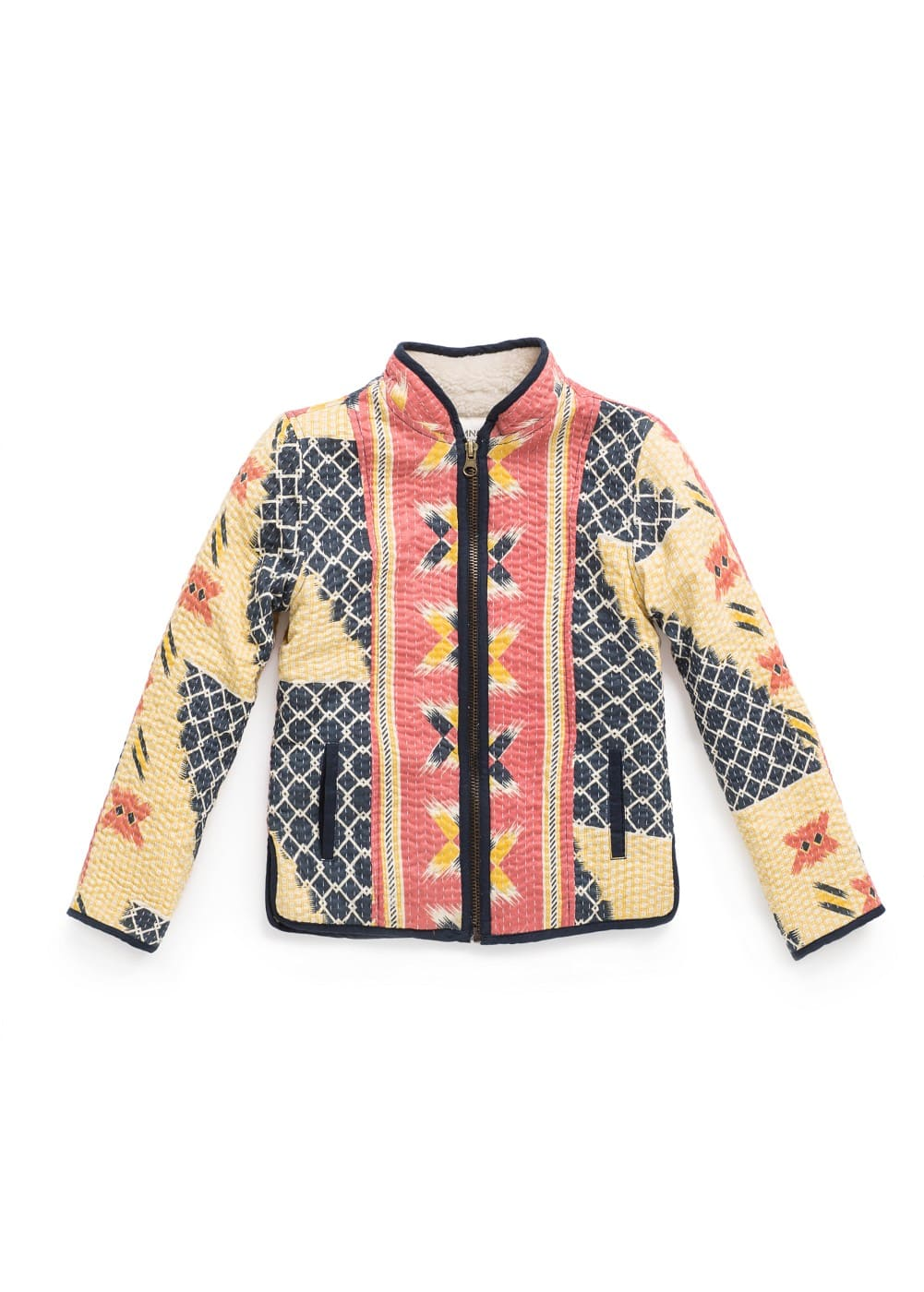 SHEARLING EFFECT PRINTED JACKET