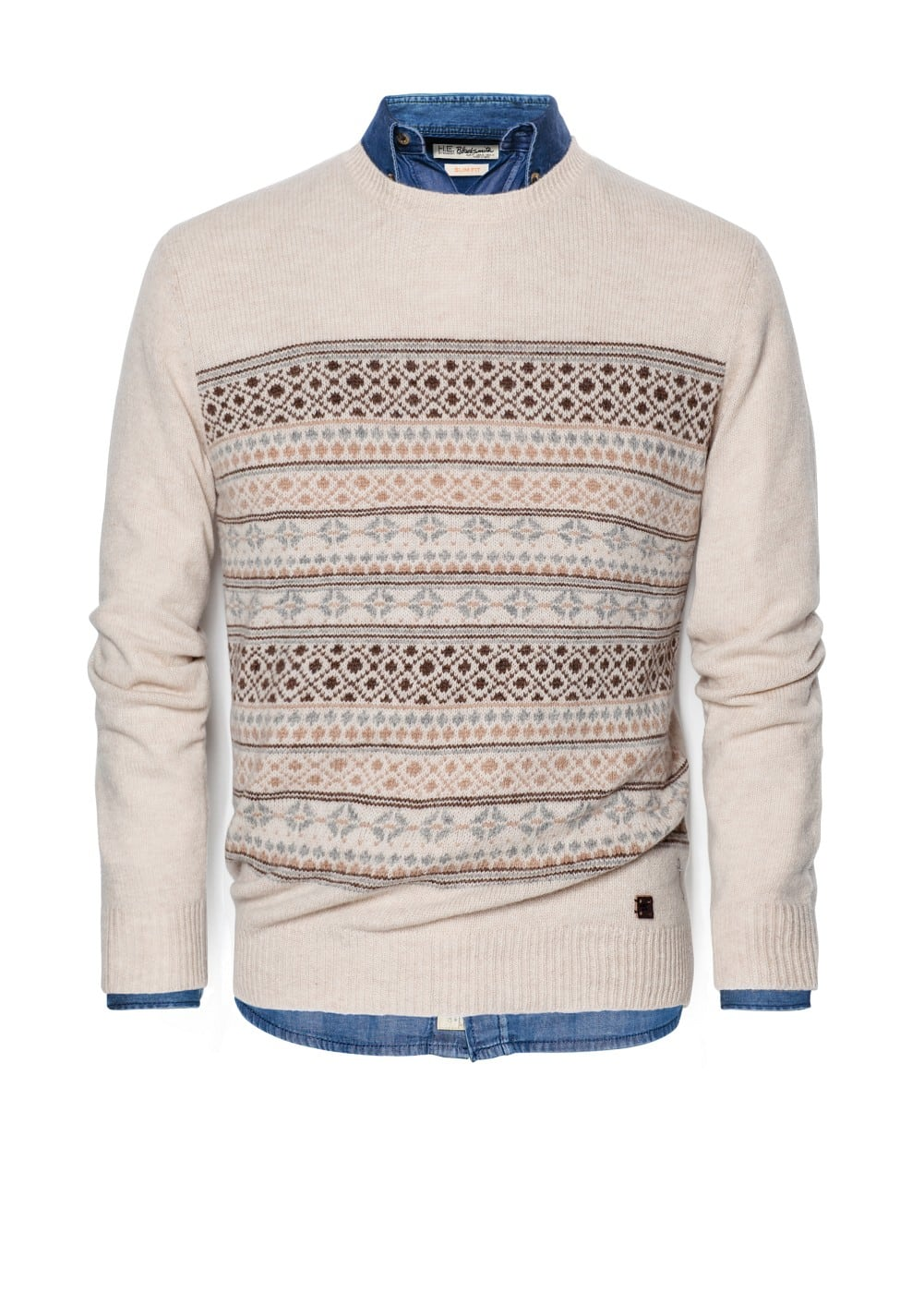 Fair isle wool sweater | MANGO MAN