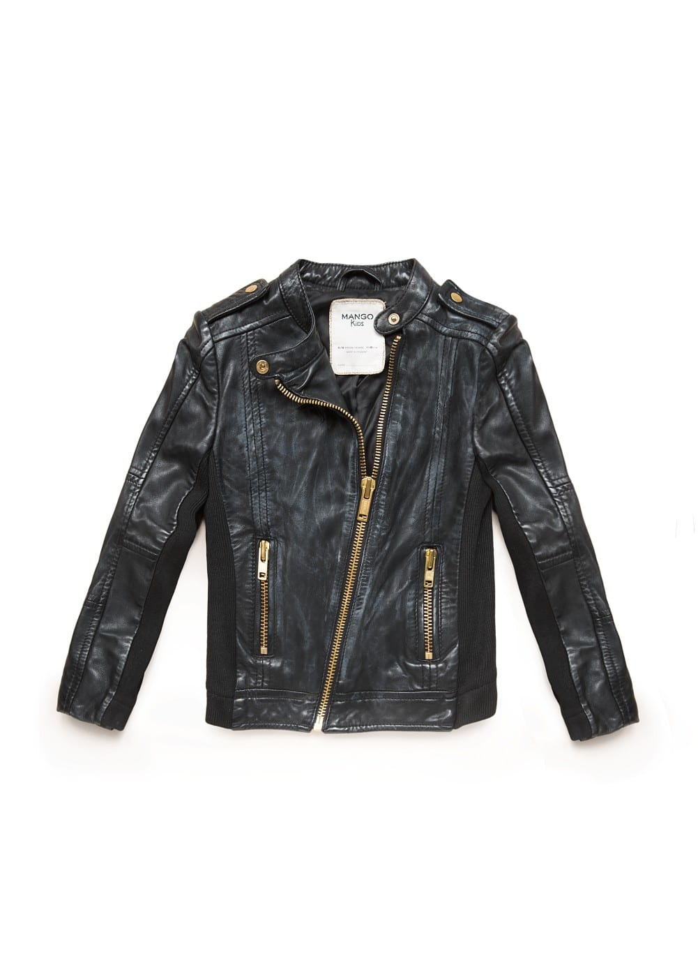 Leather biker jacket | MANGO KIDS