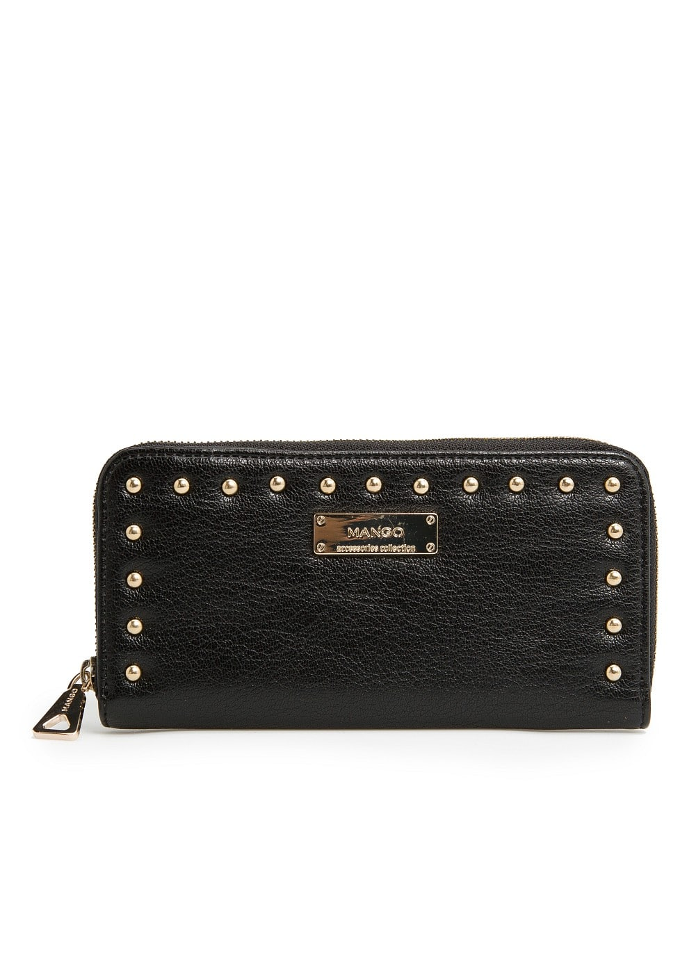 Rounded studs wallet | MANGO