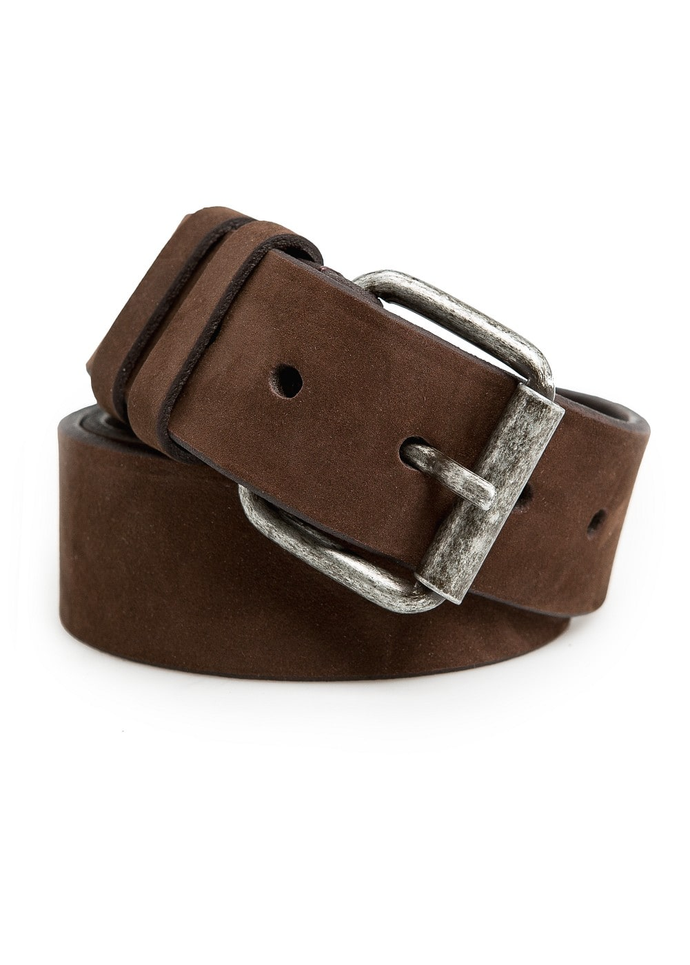 Double-keeper suede belt