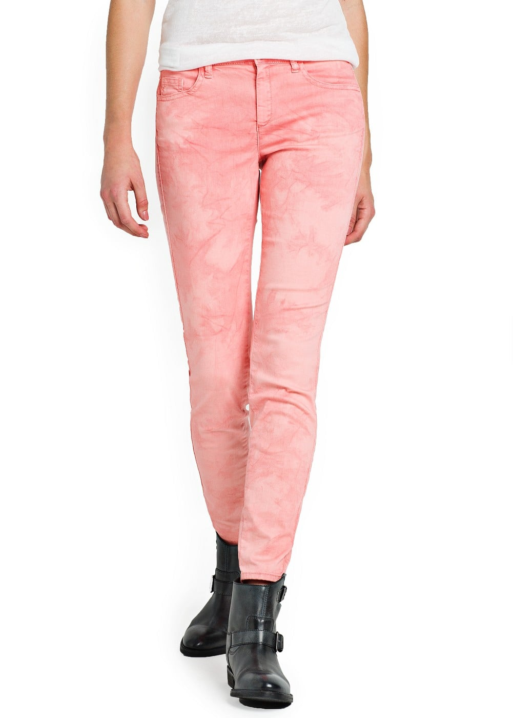 Tie-dye slim-fit trousers | MANGO