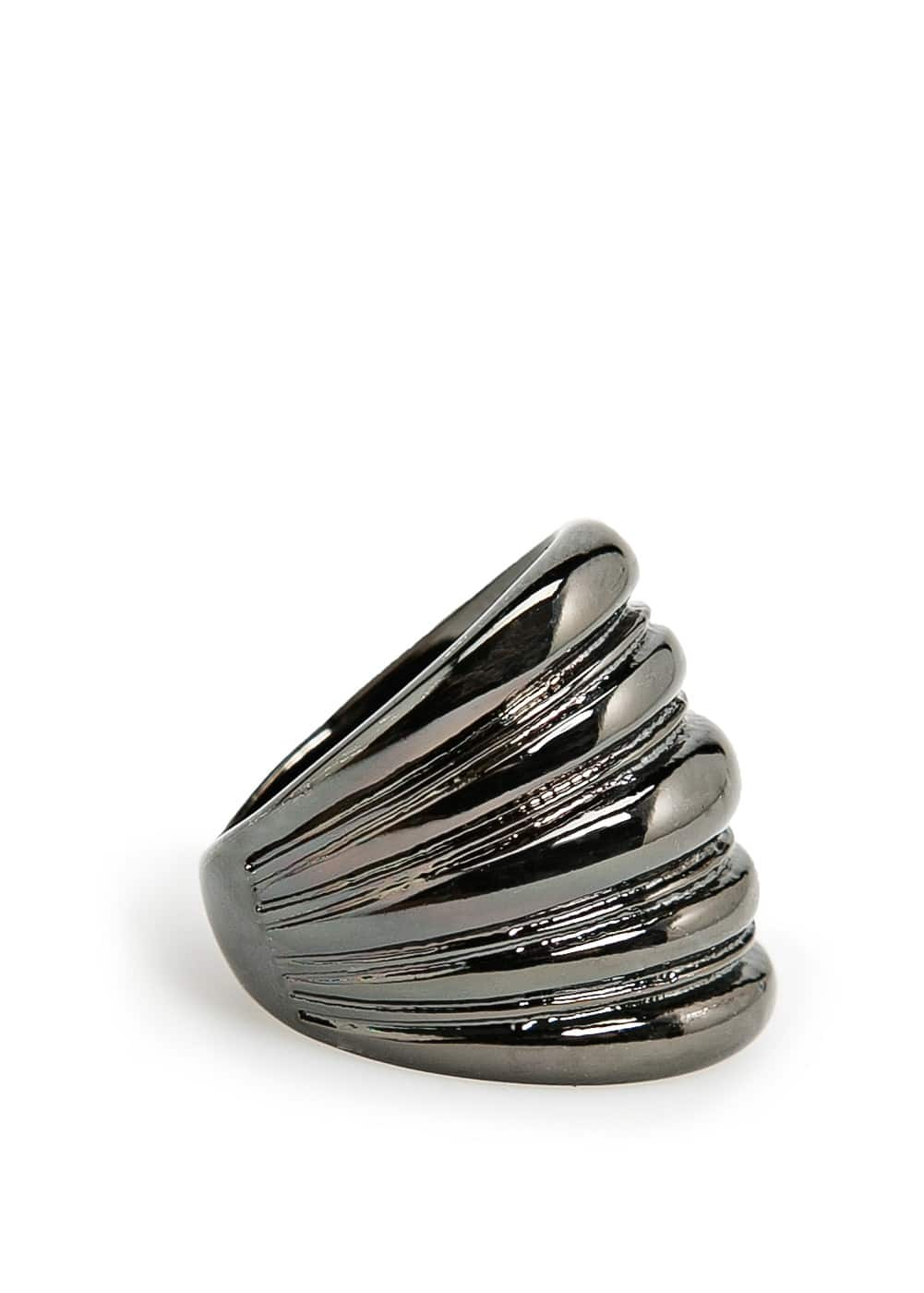 Striped embossed ring