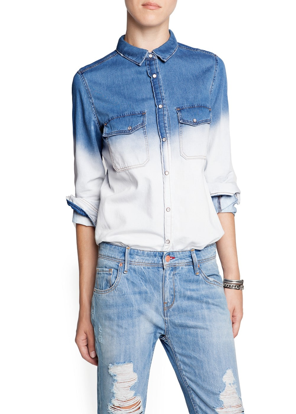 Ombré denim shirt | MANGO