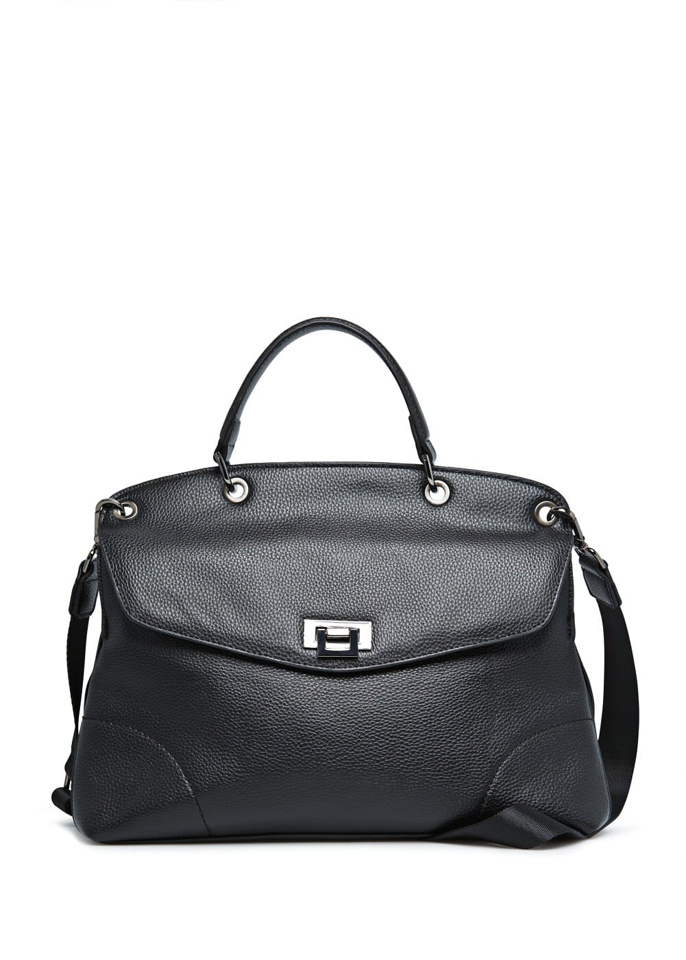 Metal fastening messenger bag | MANGO