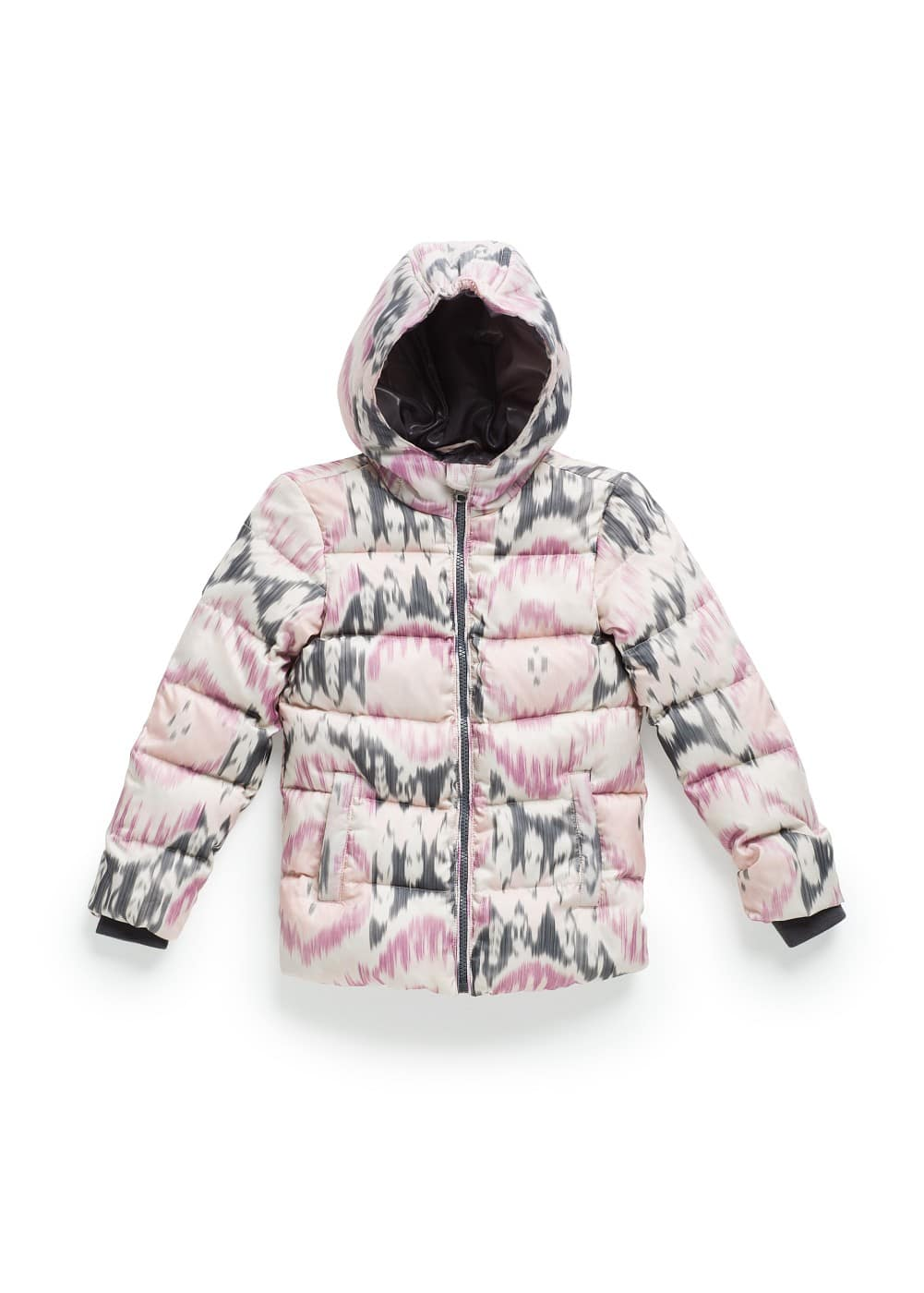 IKAT PRINT FEATHER DOWN COAT