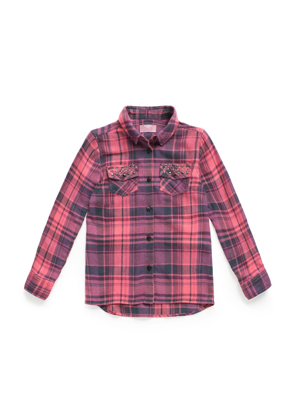 Studded check shirt | MANGO KIDS