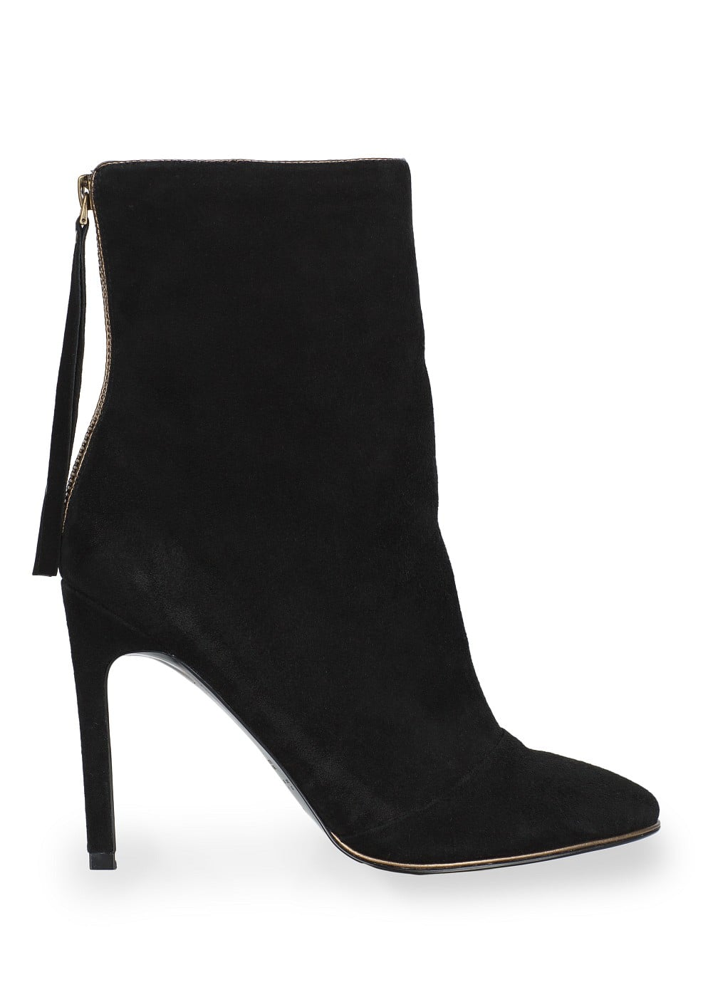 Zip ankle boots