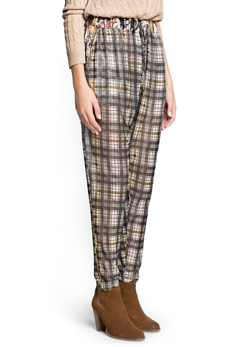 Combi print baggy trousers