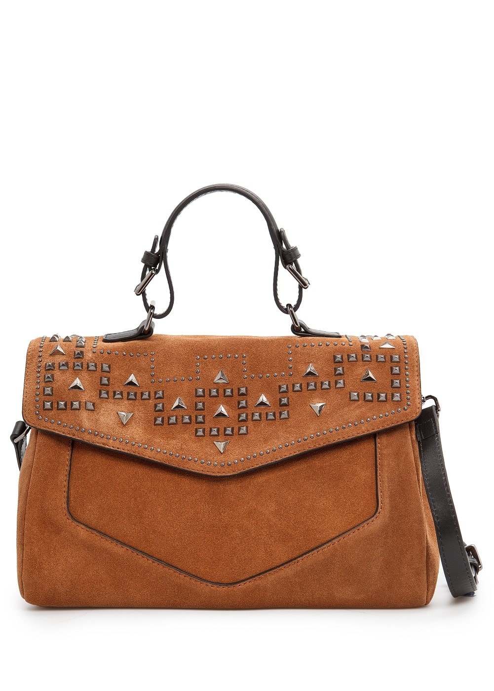 Studded suede tote bag