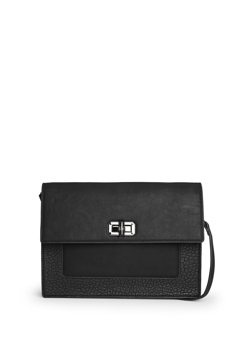 Contrast panel shoulder bag