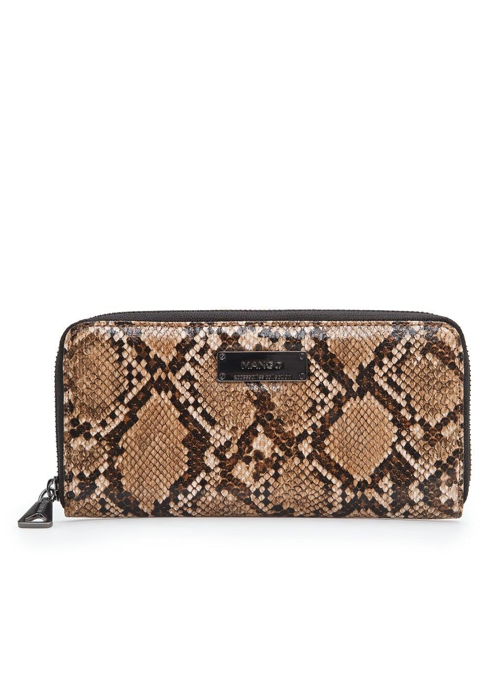Snakeskin effect wallet