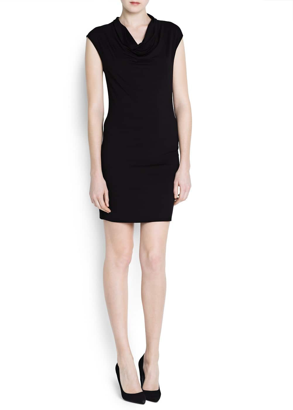 Draped neckline dress | MANGO