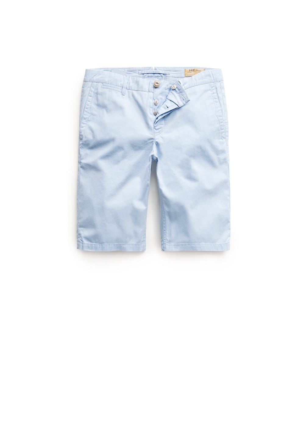 Garment-dyed cotton bermuda shorts