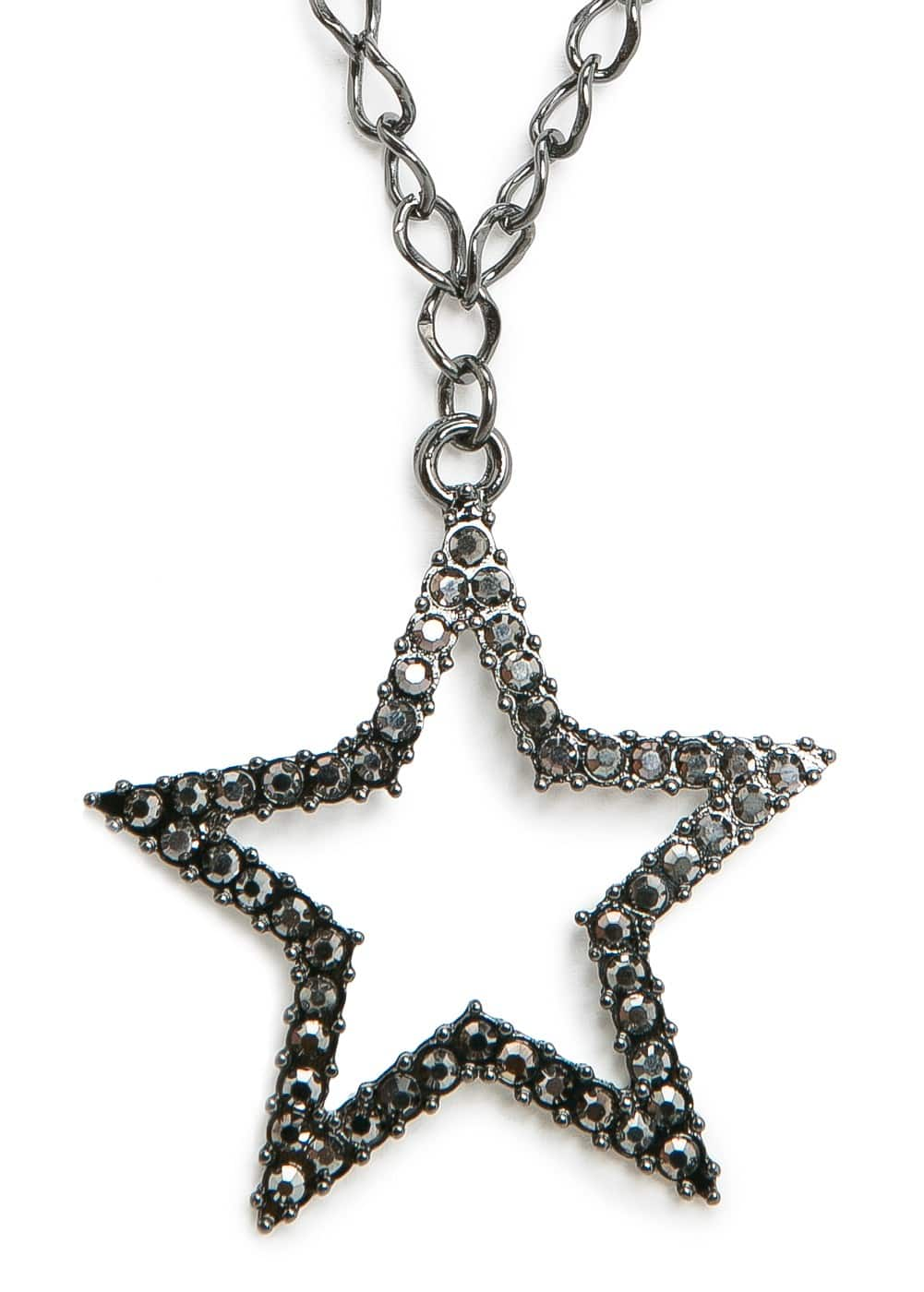 Strass star long necklace | MANGO