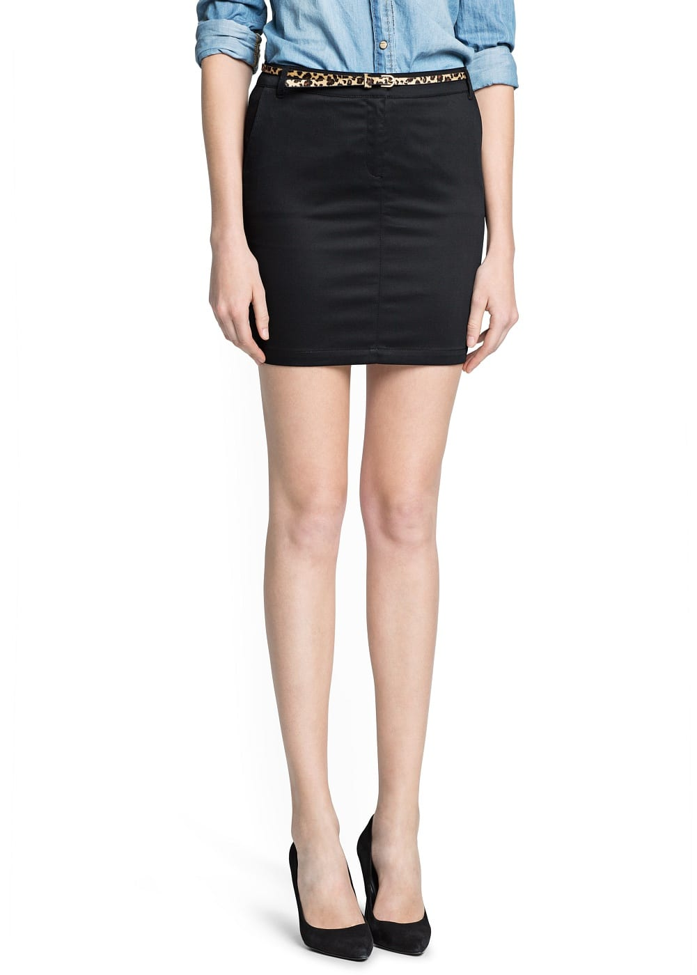 Straight-fit miniskirt belt | MANGO